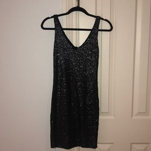 Eight Sixty Black Sequin Dress